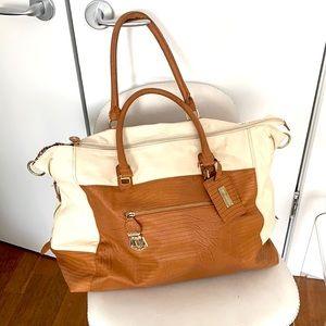 Steve Madden Weekender Cream/ Tan Travel Bag